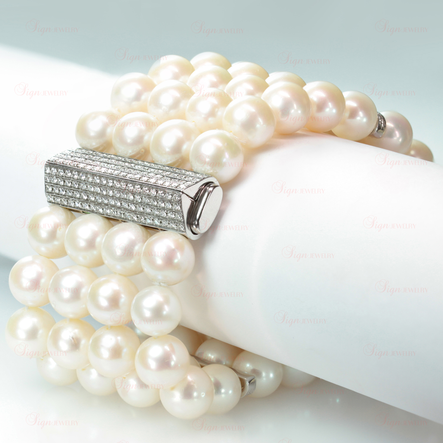 attos gold diamond full estate white pearl f jewelry click bracelet item and to expand