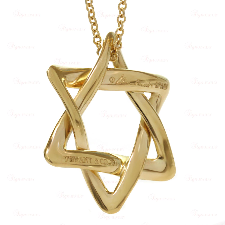 Tiffany Amp Co Elsa Peretti 18k Gold Large Star Of David