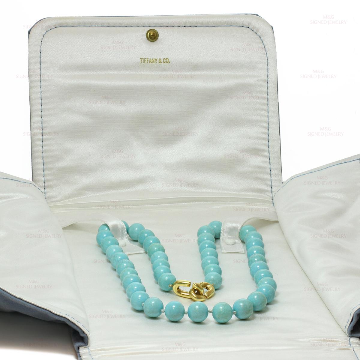 Angela Cummings Tiffany Amp Co Turquoise Bead 18k Yellow