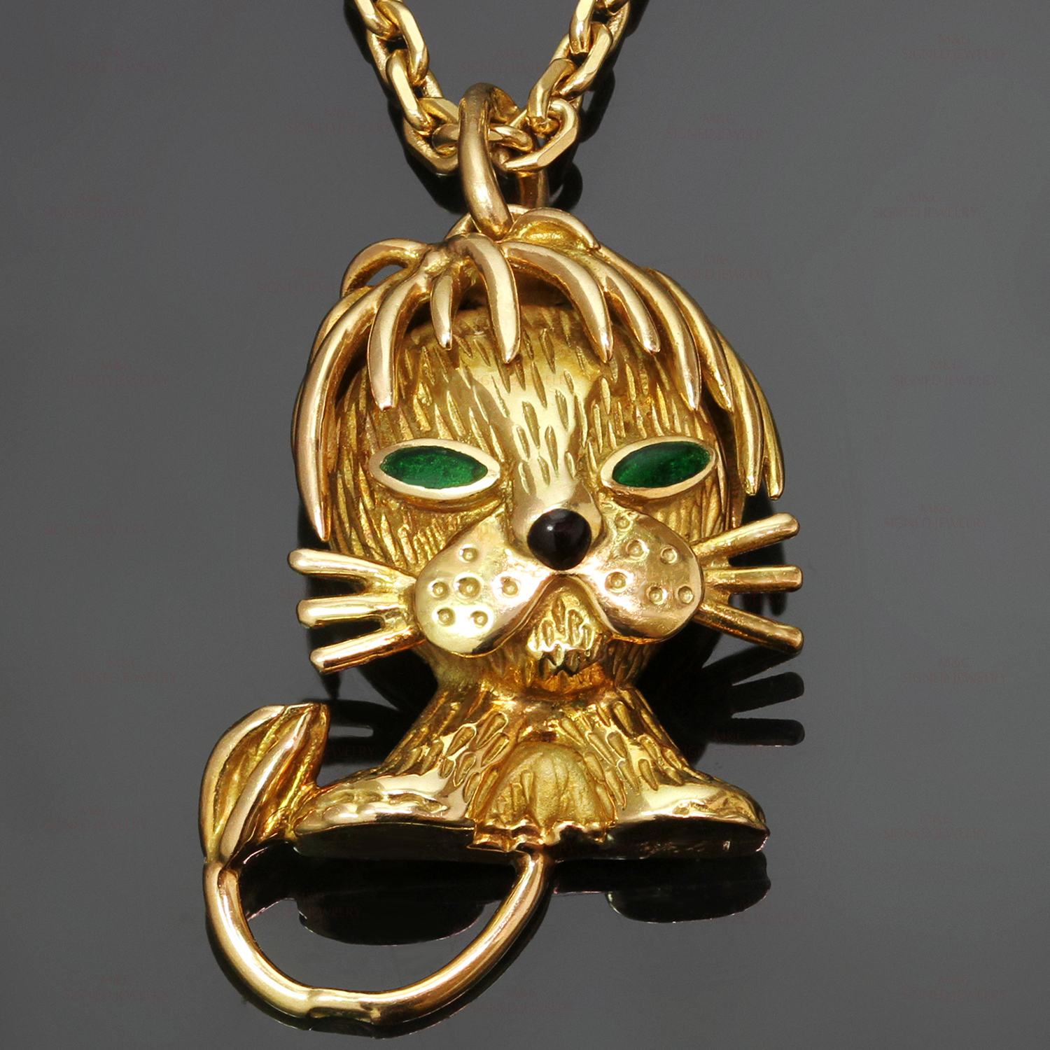 thomas yellow lyst view gold sabo jewelry sterling zirconia wblack pendant silver lion fullscreen