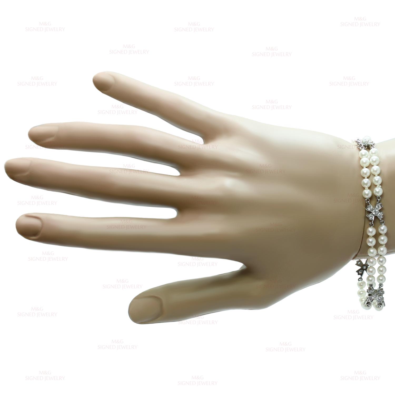 dd5bdc31f TIFFANY & CO. Floret Flourishes Diamond Platinum Pearl Bracelet