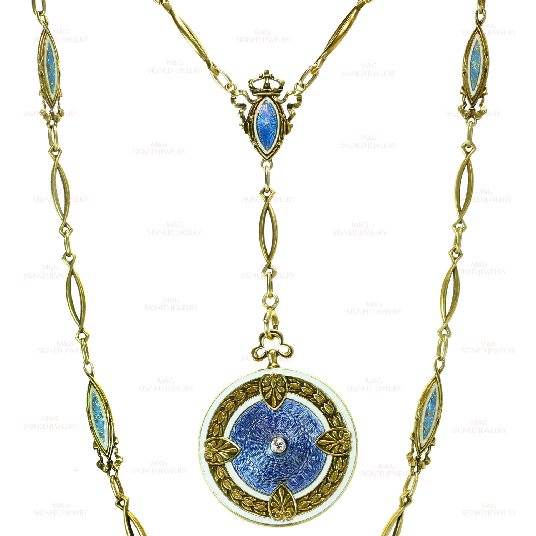 Antique Art Nouveau Whiteside Amp Blank Blue Enamel