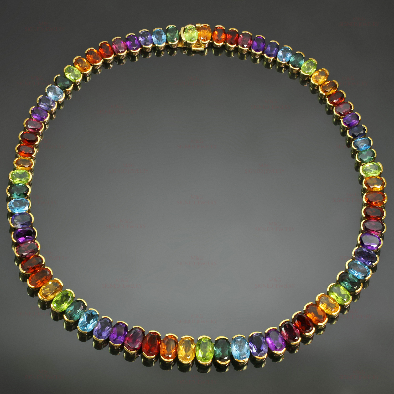 H Stern Brazil Multicolor Gemstone 18k Yellow Gold Necklace