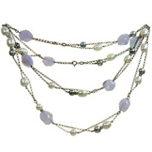 SALAVETTI Pearl Chalcedony 18k White Gold Necklace