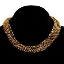 Victorian Long Rondel 14k Yellow Gold Chain Necklace