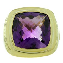 DAVID YURMAN Albion Amethyst 18k Yellow Gold Cocktail Ring
