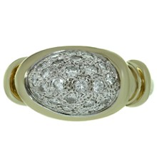 Diamond 14k Yellow Gold Yellow Gold Oval Ring