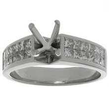 Diamond 18k White Gold Engagement Prong-Setting Ring