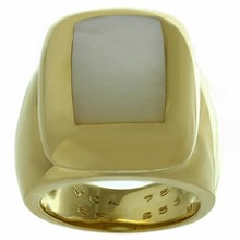 VAN CLEEF & ARPELS Babylon Mother-of-Pearl 18k Yellow Gold Ring