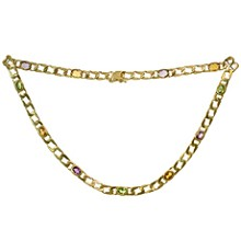 Multicolor Gemstone 14k Yellow Gold Necklace