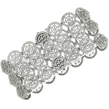TIFFANY & CO. Voile Diamond Platinum 3-Row Bracelet