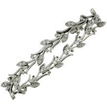 TIFFANY & CO. Diamond Platinum Garland Bracelet