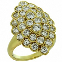VAN CLEEF & ARPELS Vintage Diamond 18k Yellow Gold Ring 1980s