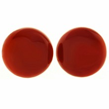 PERINETTI di MAGNEA ETTORE Oxblood Coral 18k Yellow Gold Clip-on Earrings