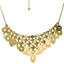 BULGARI Lucea 18k Yellow Gold Chandelier Bib Necklace