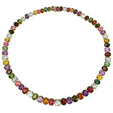 H. STERN Multicolor Gemstone 18k Yellow Gold Necklace
