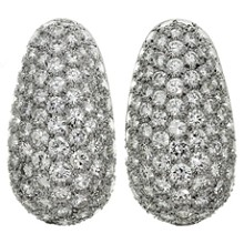 VAN CLEEF & ARPELS Diamond Platinum Earrings Box Papers
