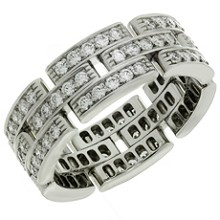 CARTIER Maillon Panthere Diamond White Gold Band Ring