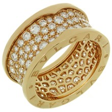 BULGARI B.ZERO1 Diamond 18k Rose Gold Band Ring