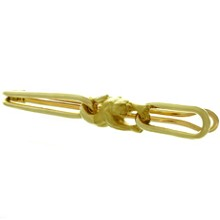 CARRERA Y CARRERA 18k Yellow Gold Panter Tie Bar