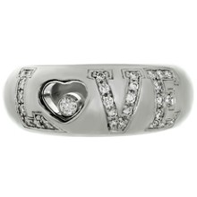 CHOPARD Happy Diamonds Love 18k White Gold Band Ring
