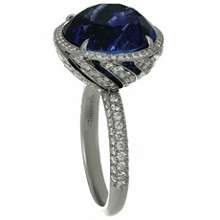 TIFFANY & CO. High Jewelry Tanzanite Diamond Platinum Cocktail Ring GIA