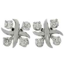 TIFFANY & CO. Schlumberger Lynn Diamond Platinum Earrings