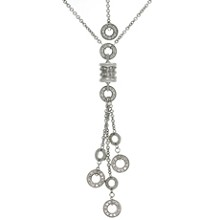 BULGARI B.zero1 Diamond 18k White Gold Drop Necklace