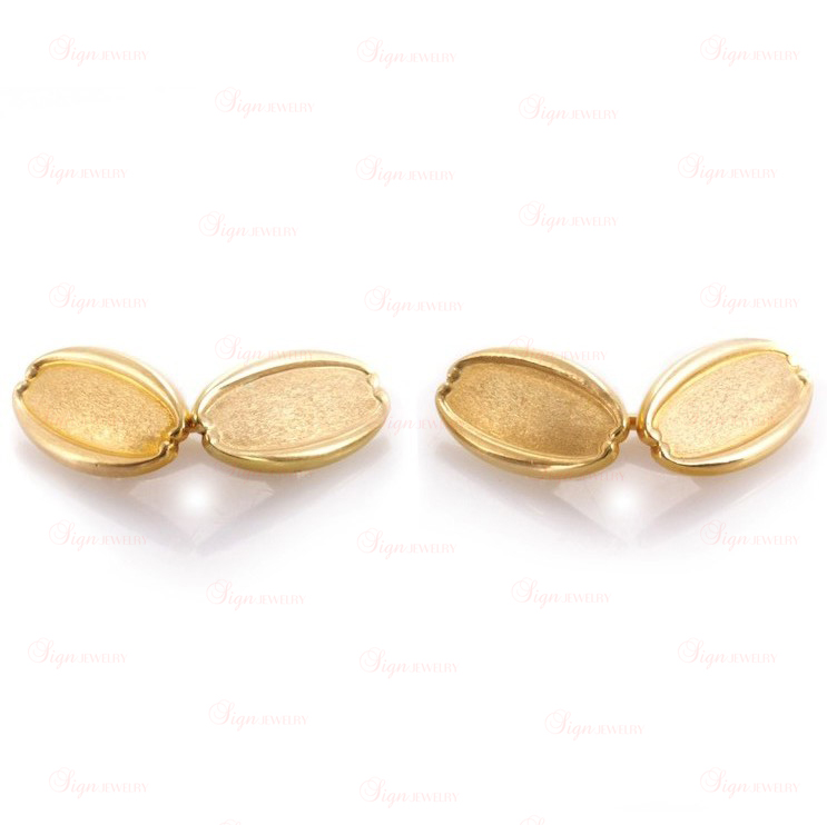 TIFFANY & CO. Art-Deco 18k Yellow Gold Cufflinks