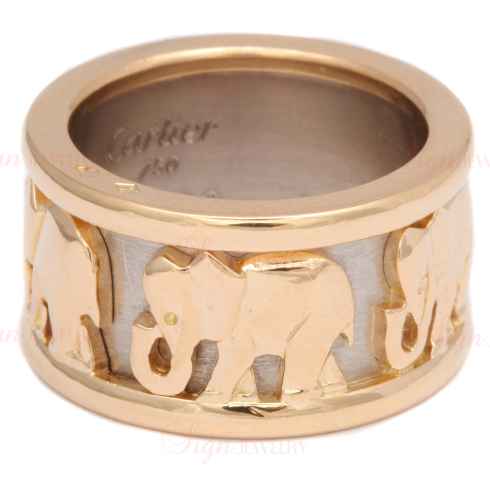 CARTIER 18k Two-Tone Gold Elephant Journey Ring