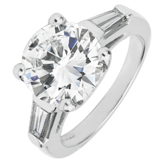 Diamond Platinum Engagement Ring GIA