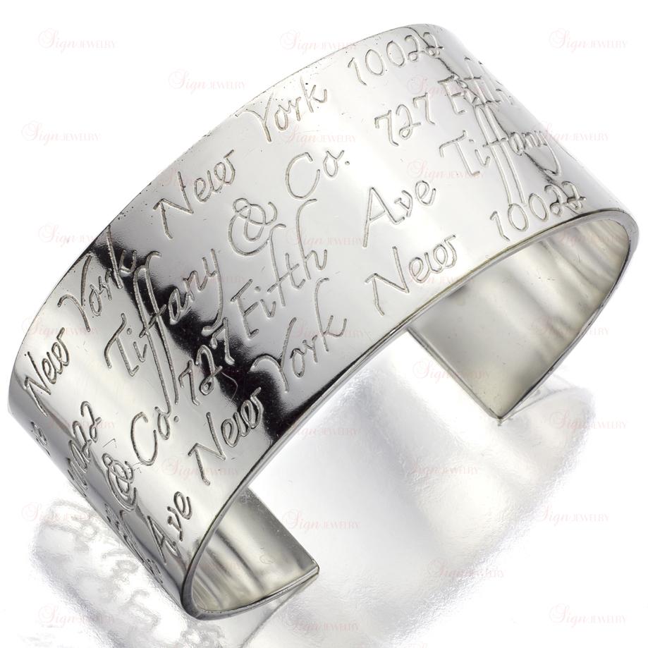 33d237e024de8 TIFFANY & CO. Notes Collection Sterling Silver Medium Cuff Bracelet