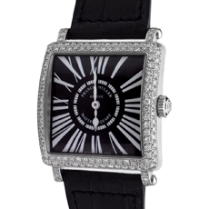 FRANK MULLER Master Square 18k White Gold Diamond Women's Watch 6002L