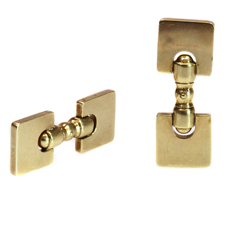 TIFFANY & CO. 14k Yellow Gold Square Cufflinks