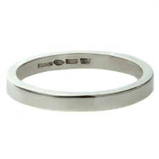 BVLGARI Platinum 3mm Men's Size 12.25 Wedding Band