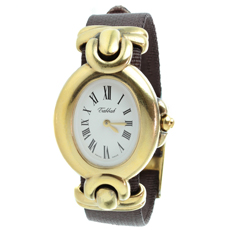 TABBAH Copacabana Swiss Quartz Electroplated Silver Gold Watch