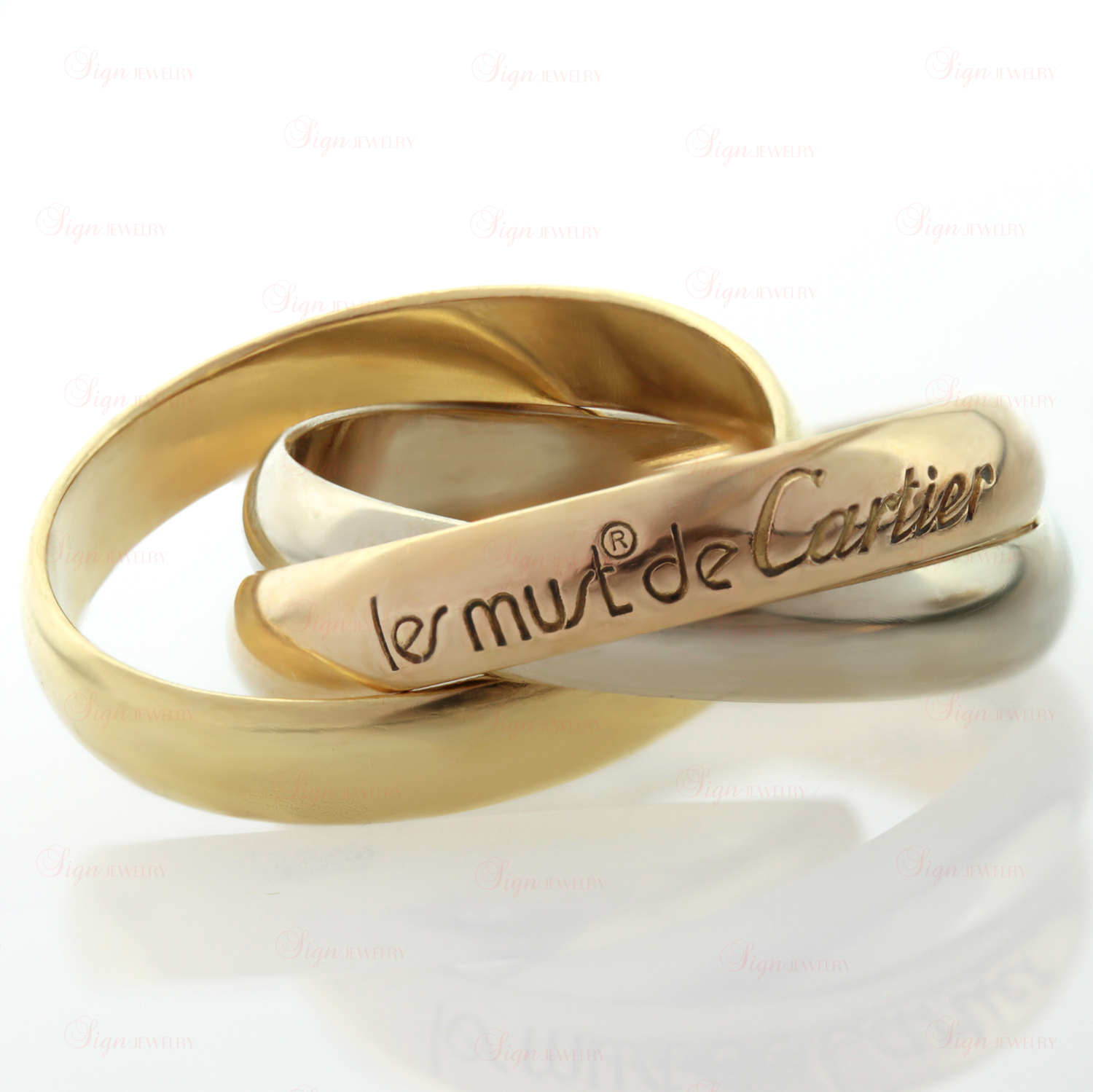 CARTIER Le Must De Trinity 18k Tri-Gold Band