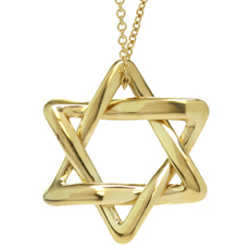 TIFFANY & CO. Elsa Peretti 18k Gold Large Star of David Pendant