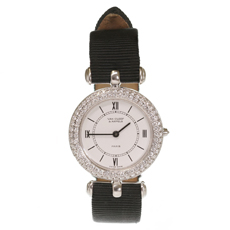 VAN CLEEF & ARPELS Classique 18k White Gold Diamond Watch