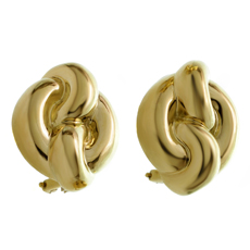 CHARLES TURI 18k Yellow Gold Earrings
