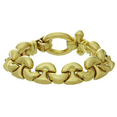 18k Yellow Gold Link Toggle Clasp Bracelet