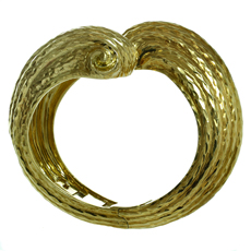 HENRY DUNAY Hammered 18k Yellow Gold Cuff Bracelet