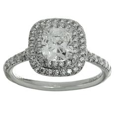 TIFFANY & CO. Soleste Diamond Platinum Engagement Ring