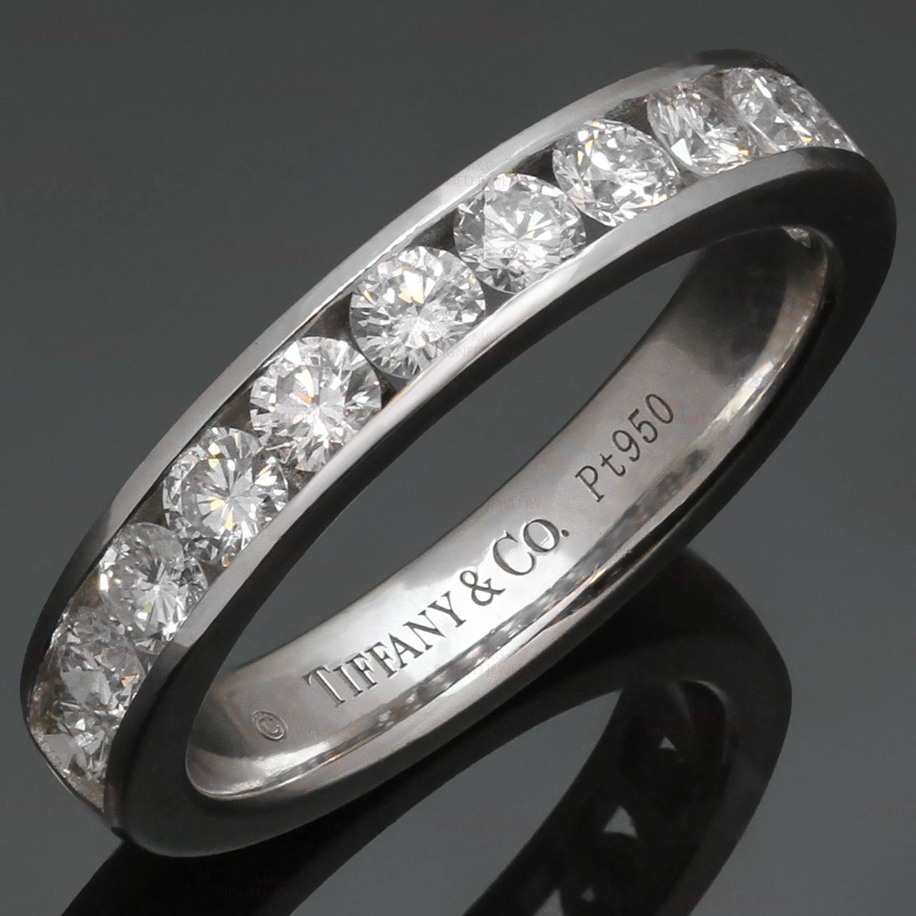 TIFFANY & CO. Diamond Platinum Wedding Band