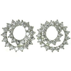 TIFFANY & CO. Swirl Diamond Platinum Clip-on Earrings