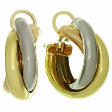 CARTIER Trinity 18k Tri-Gold Wrap Earrings, Large Model