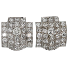 IMPRESSIVE! Retro White Gold Diamond Earrings