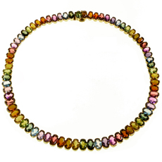 H. STERN Brazil Multicolor Gemstone 18k Yellow Gold Necklace