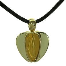CARTIER Double C Apple Heart 18k Yellow Gold Pendant