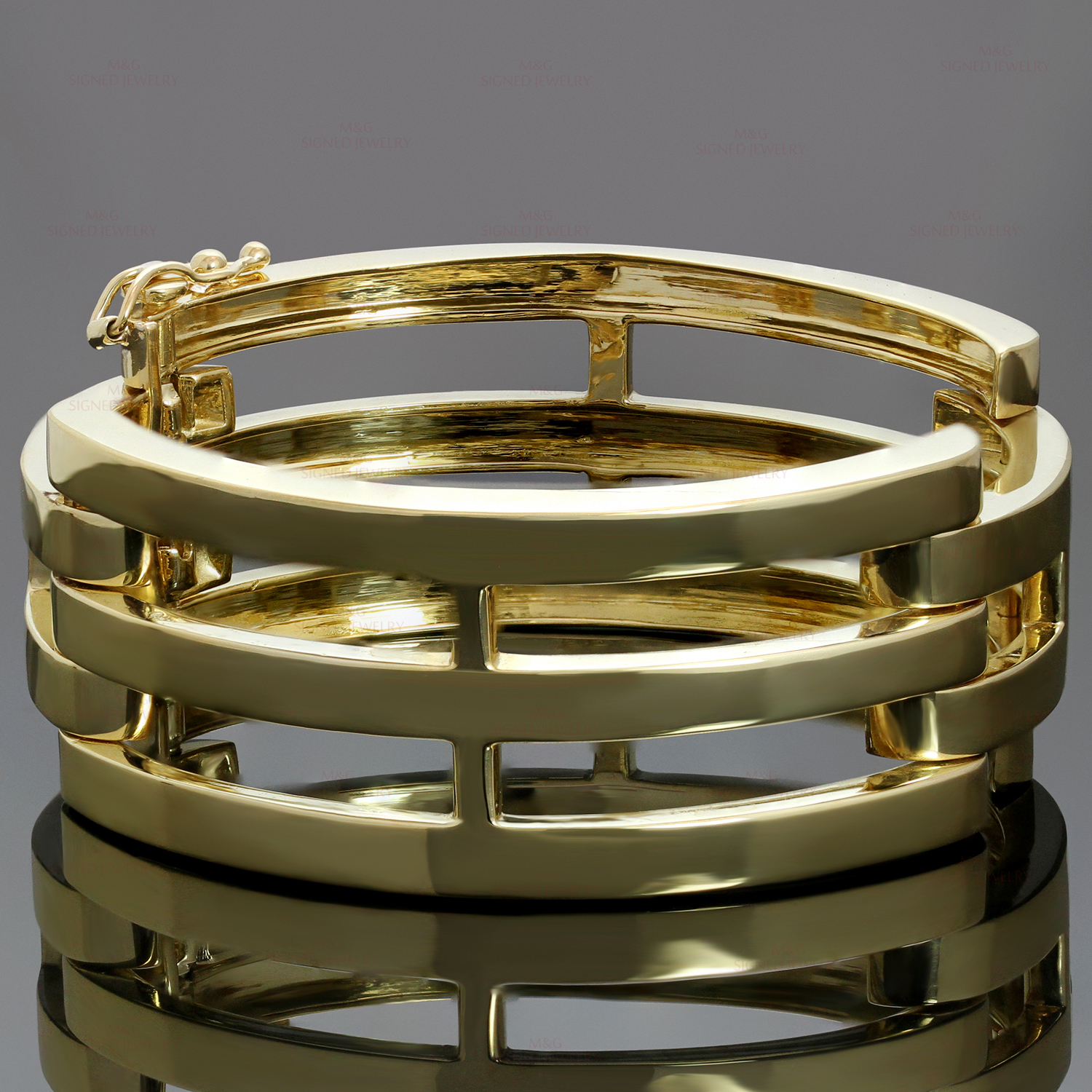 TIFFANY & CO. 18k Yellow Gold Bangle Bracelet